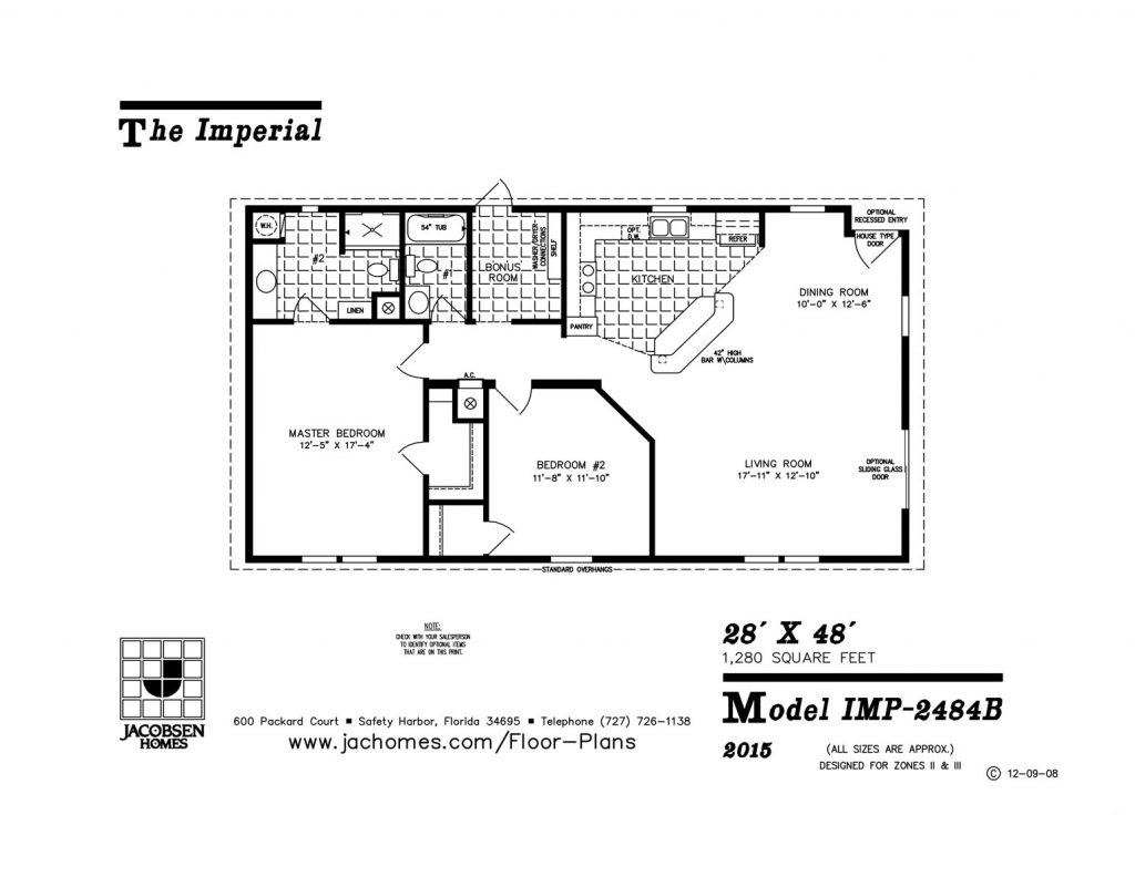 Imp 2484b mobile home floor plan ocala custom homes for Custom built homes floor plans