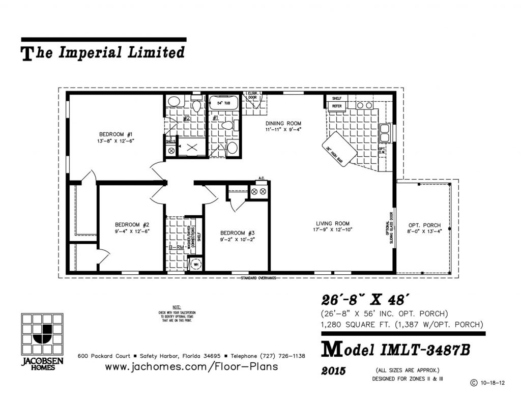 Imlt 3487b mobile home floor plan ocala custom homes for Custom built homes floor plans