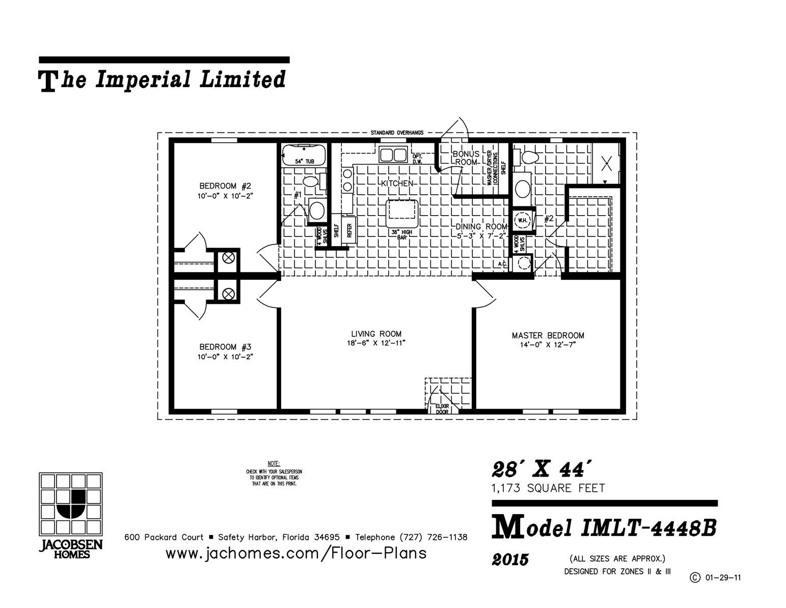 Imlt 4448b mobile home floor plan ocala custom homes for Custom home floor plans free