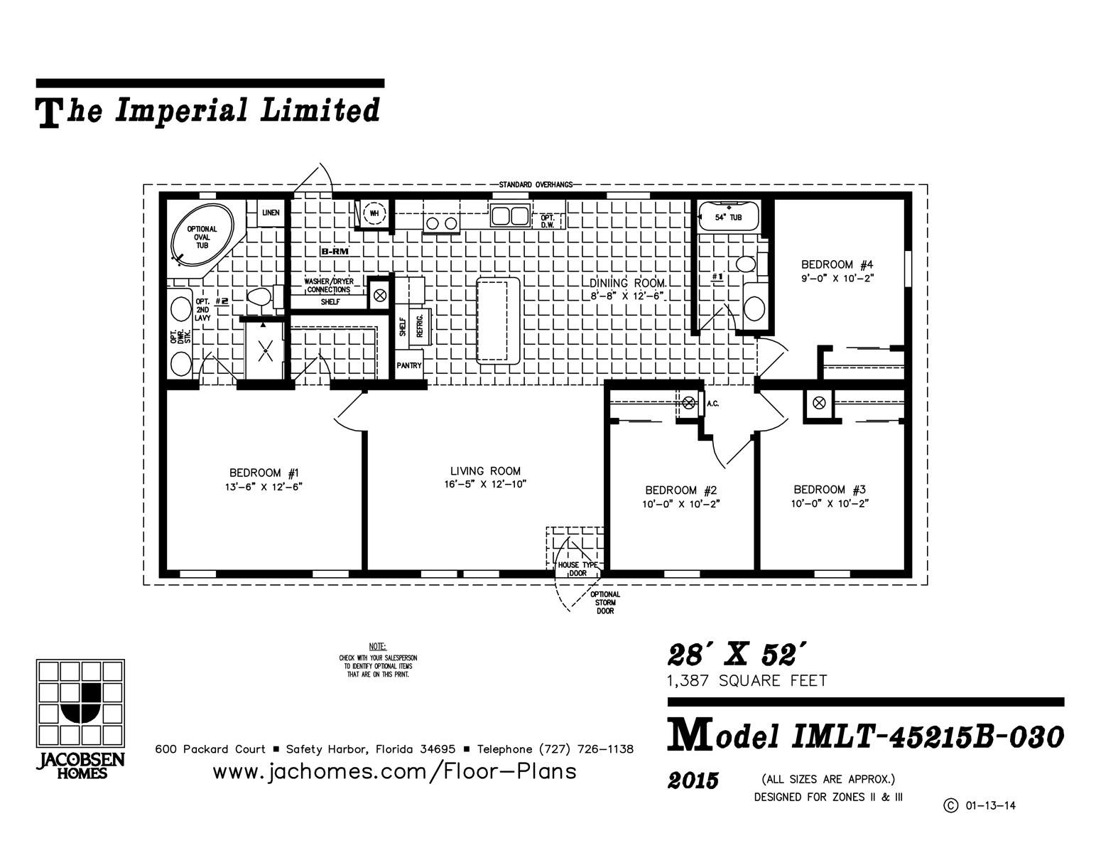IMLT-45215B-030 Mobile Home Floor Plan - Ocala Custom Homes