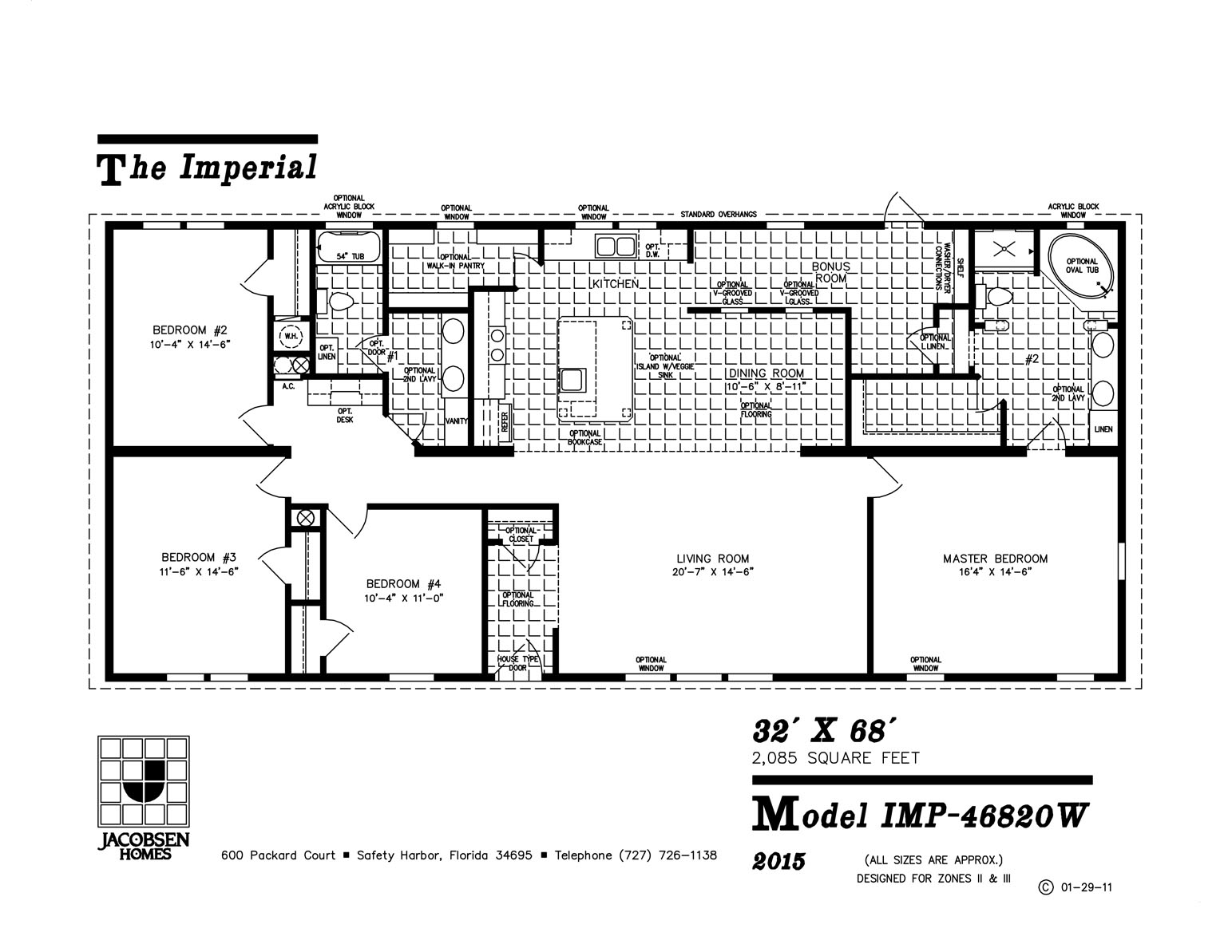 imp-46820w mobile home floor plan