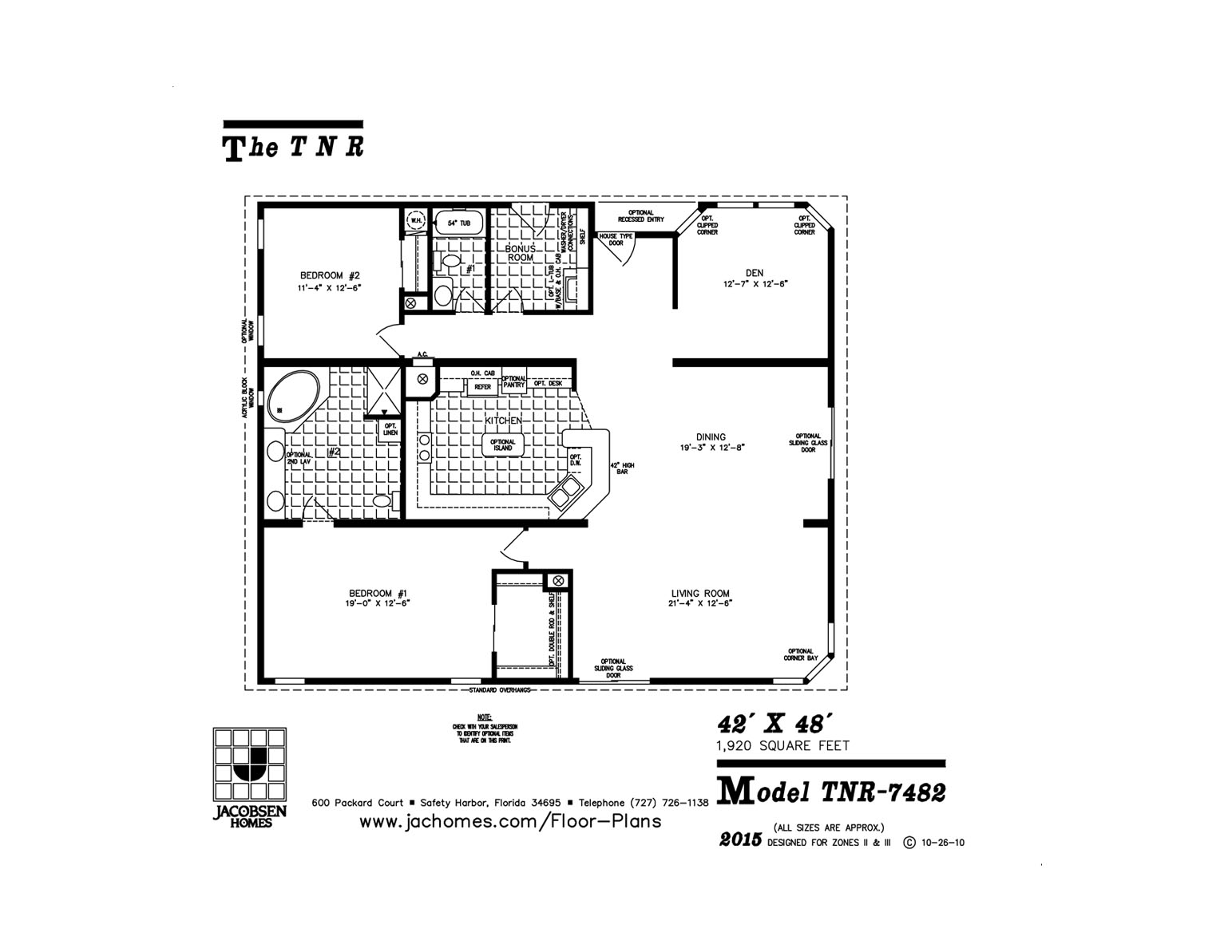 Tnr 7482 Mobile Home Floor Plan Ocala Custom Homes