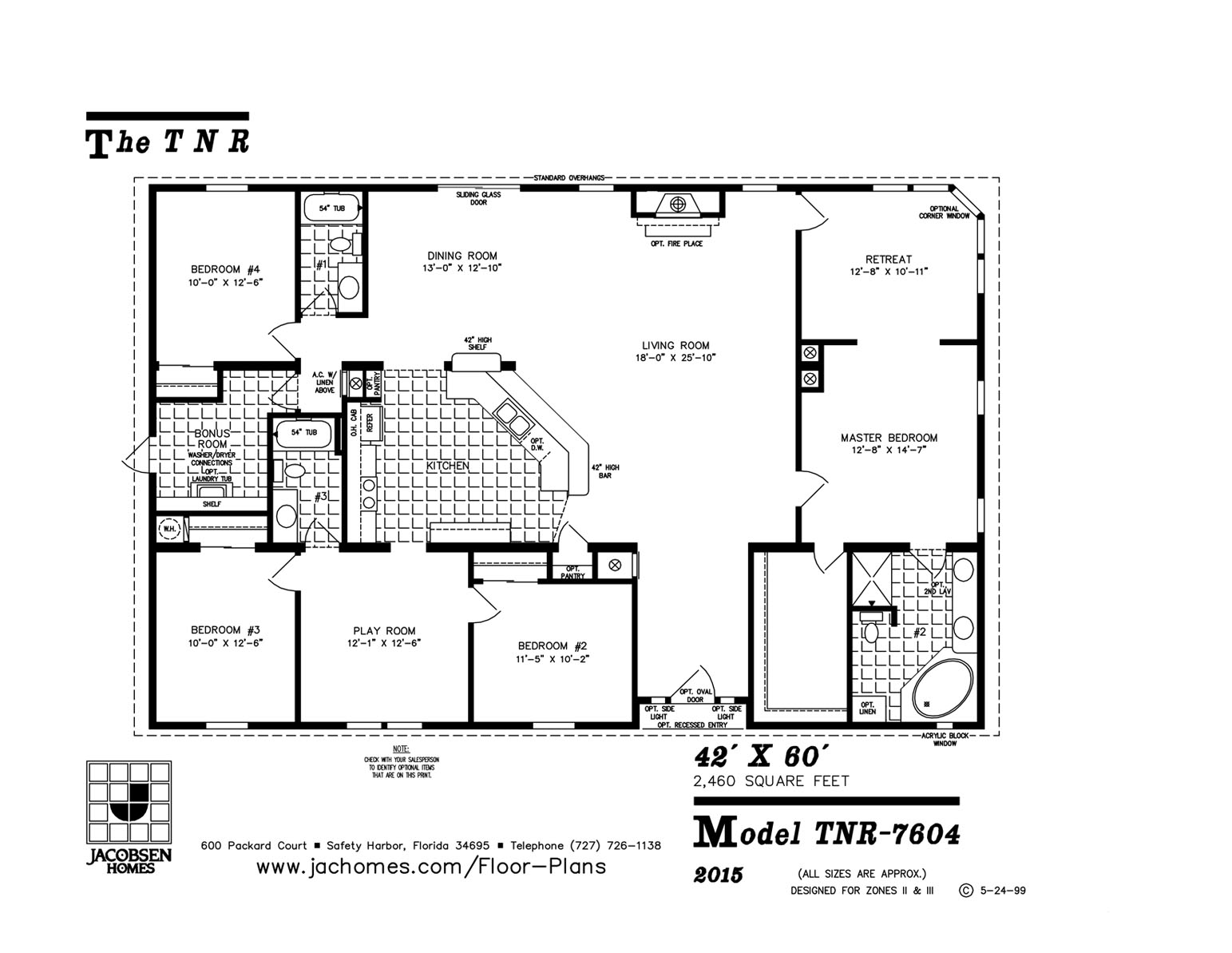 Tnr 7604 Mobile Home Floor Plan Ocala Custom Homes