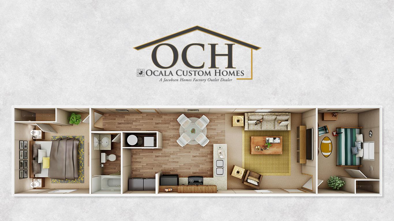 Ocala custom homes floorplans bliss3 ocala custom homes - Unique modular houses family homes ...