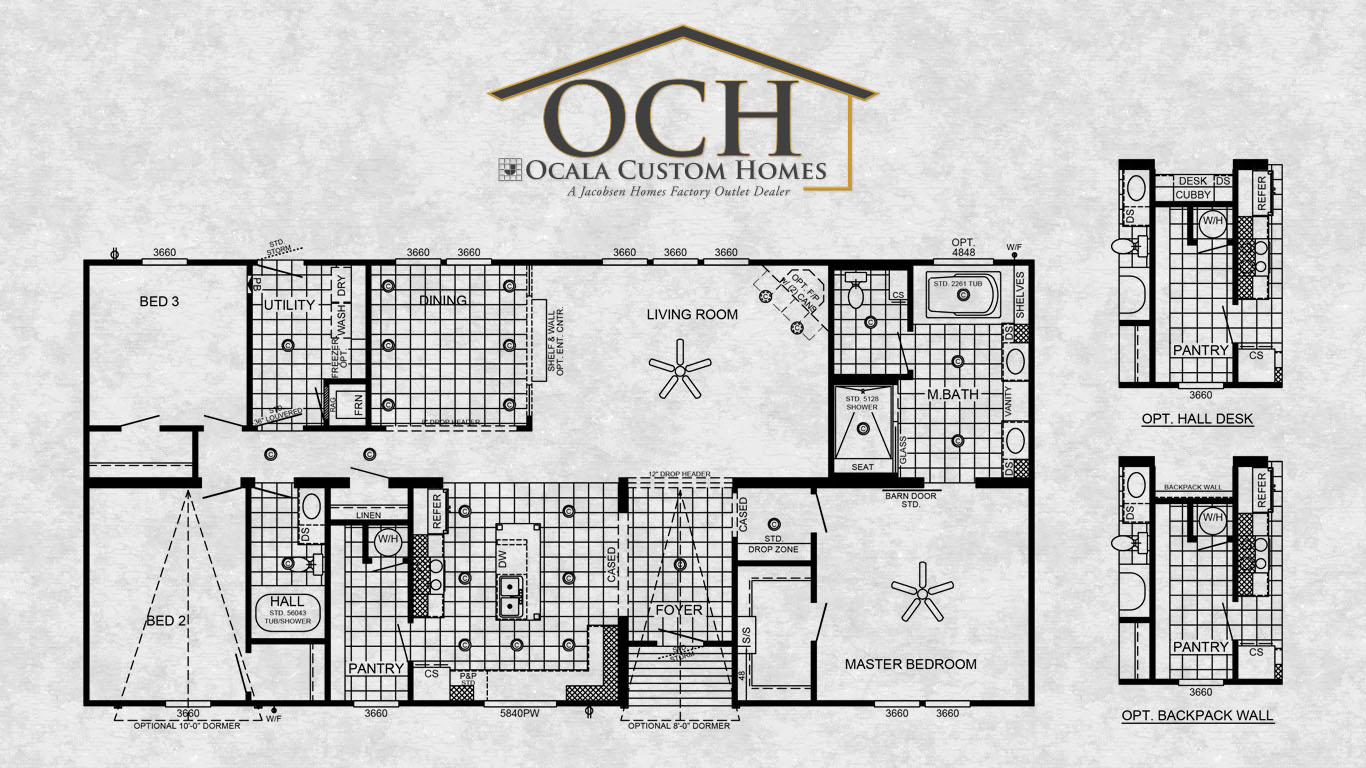 Ocala custom homes floorplans nrg 2005 the austin 1 for Custom home floorplans