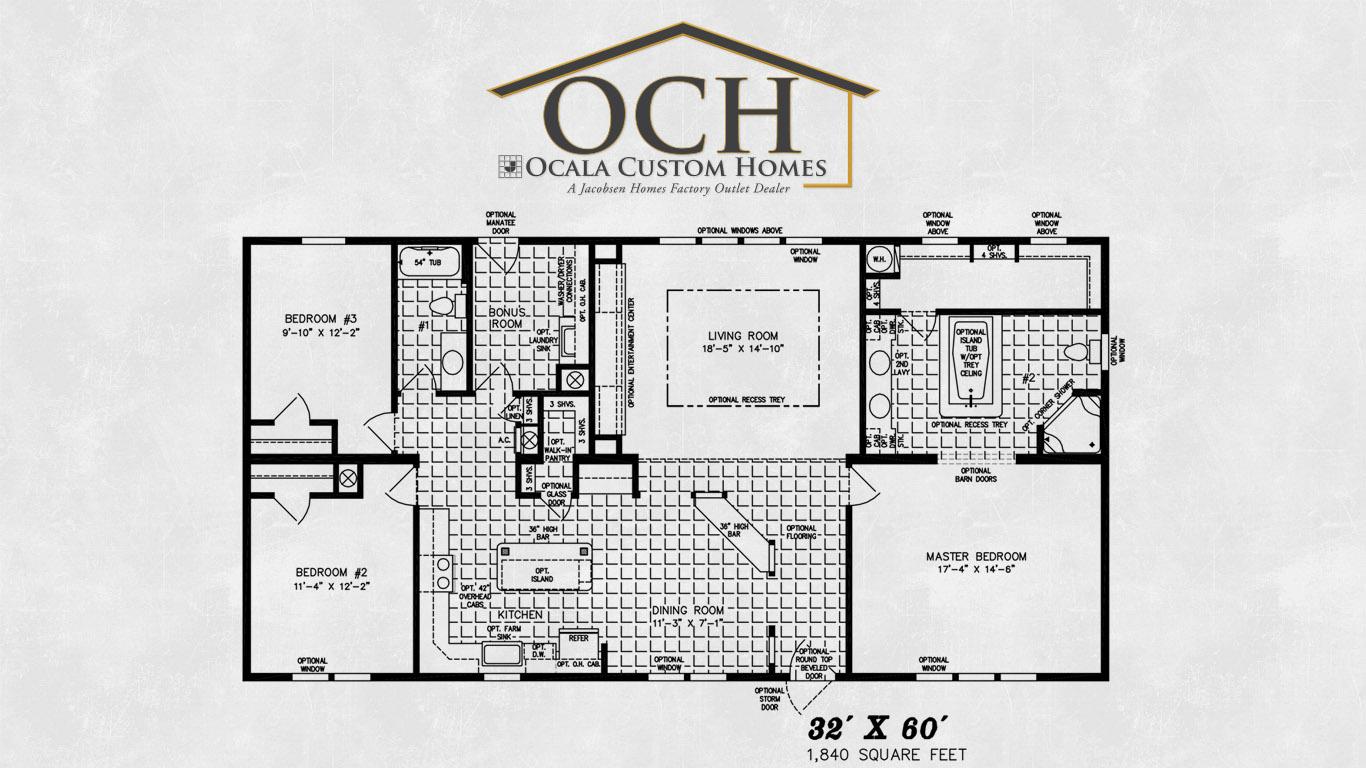 Ocala custom homes floorplans sequoia ocala custom homes for Custom home floorplans