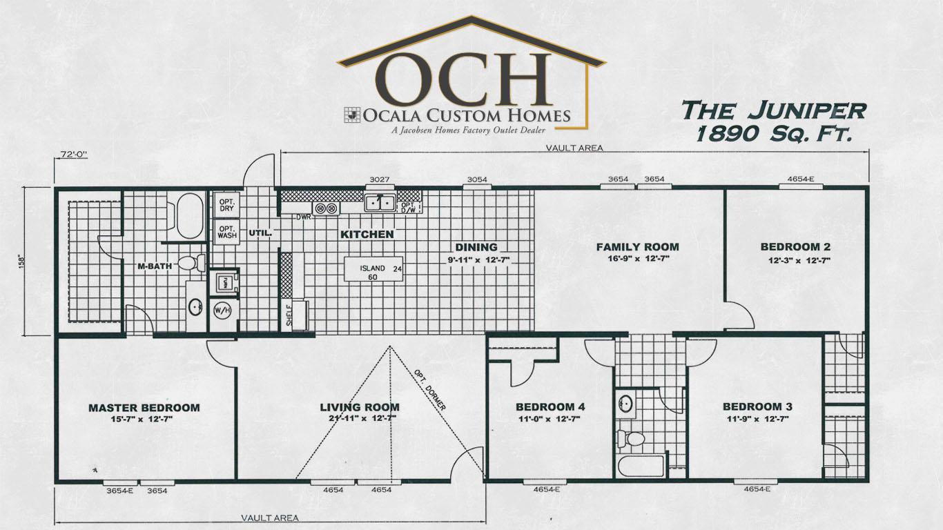 The juniper 13 ocala custom homes for Juniper floor plan