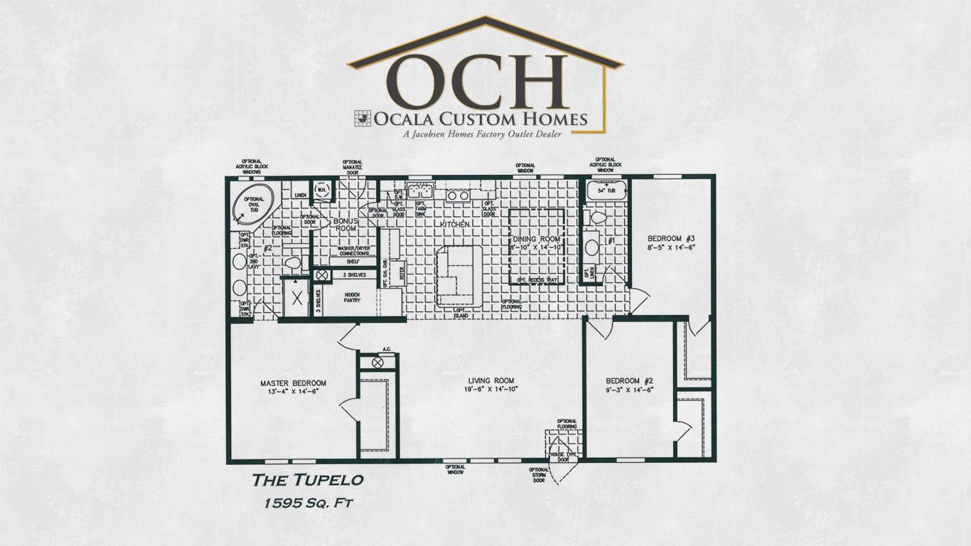 Jacobsen Manufactured Homes Floor Plans The Tupelo Ocala Custom Homes